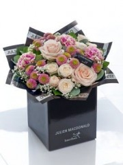 Julien Macdonald Blush Rose and Carnation Hand-tied