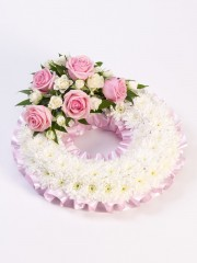 Traditional Wreath - White and Pink
