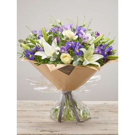 Purple Wishes New Baby Hand-tied