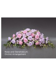 Rose and Dendrobium Orchid Arrangement