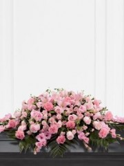 Mixed Casket Spray - Pink